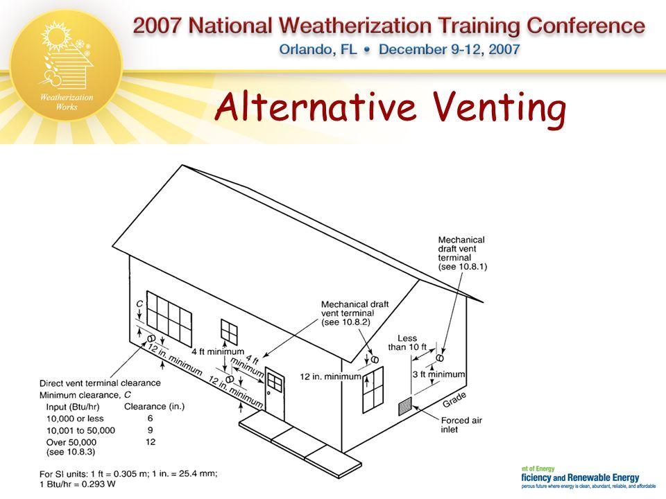 Alternative Venting