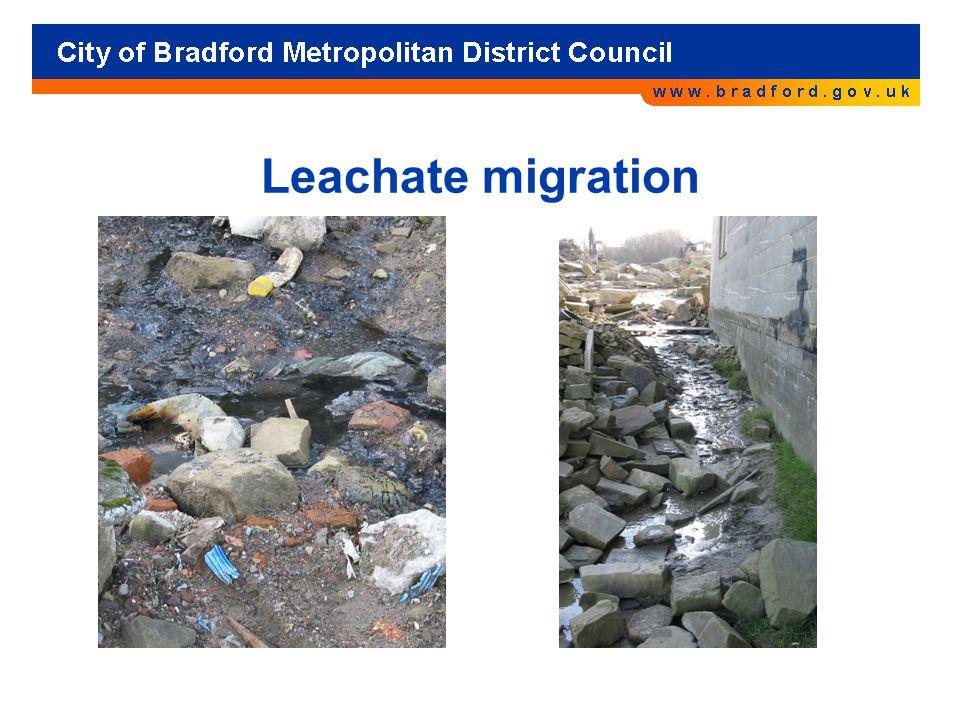 Leachate migration
