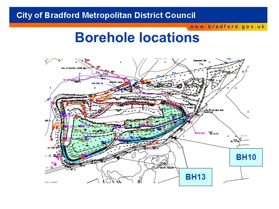 Borehole locations BH10 BH13