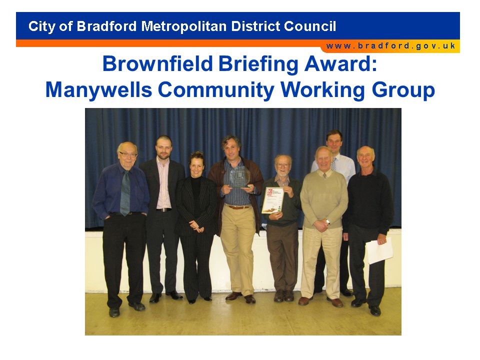 Brownfield Briefing Award: Manywells Community Working Group