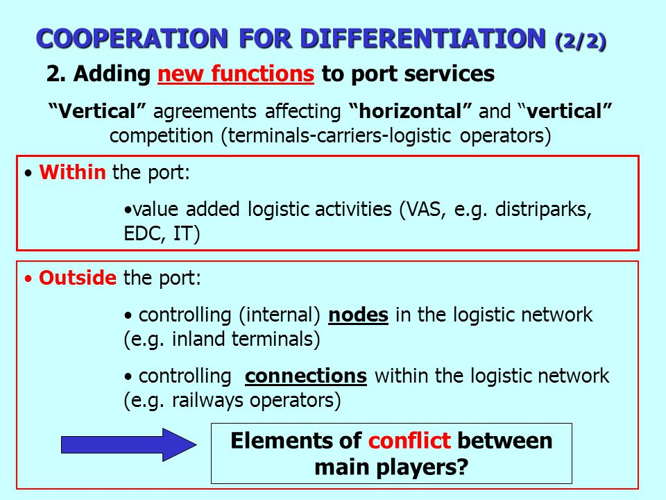 Outside the port: controlling (internal) nodes in the logistic network (e.g.