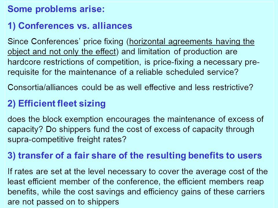 Some problems arise: 1) Conferences vs.