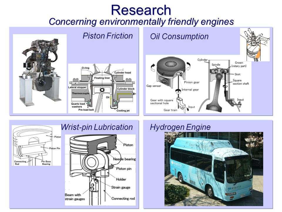 Research Piston Friction Hydrogen Engine Wrist-pin Lubrication Concerning environmentally friendly engines Oil Consumption