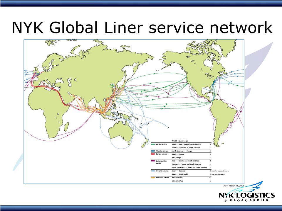 NYK Global Liner service network