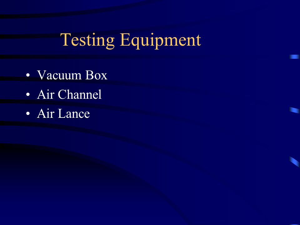 Testing Equipment Vacuum Box Air Channel Air Lance