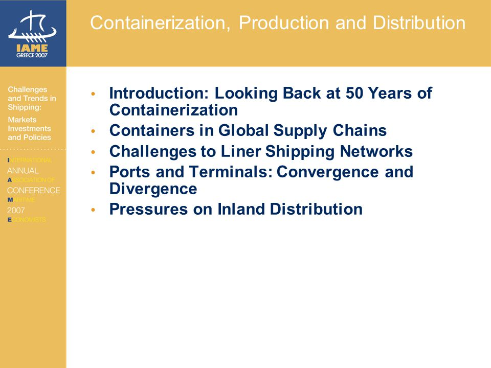 Looking Back at 50 Years of Containerization Intermodal Integration 50 years of stepwise technical improvements.