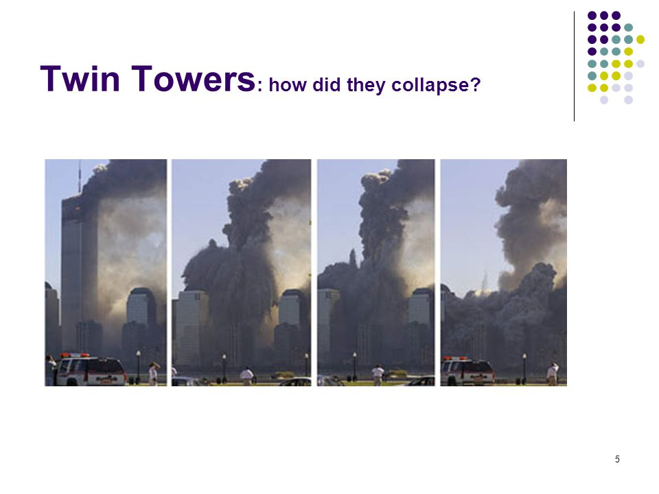 10/25/2006Mercer University5 Twin Towers : how did they collapse
