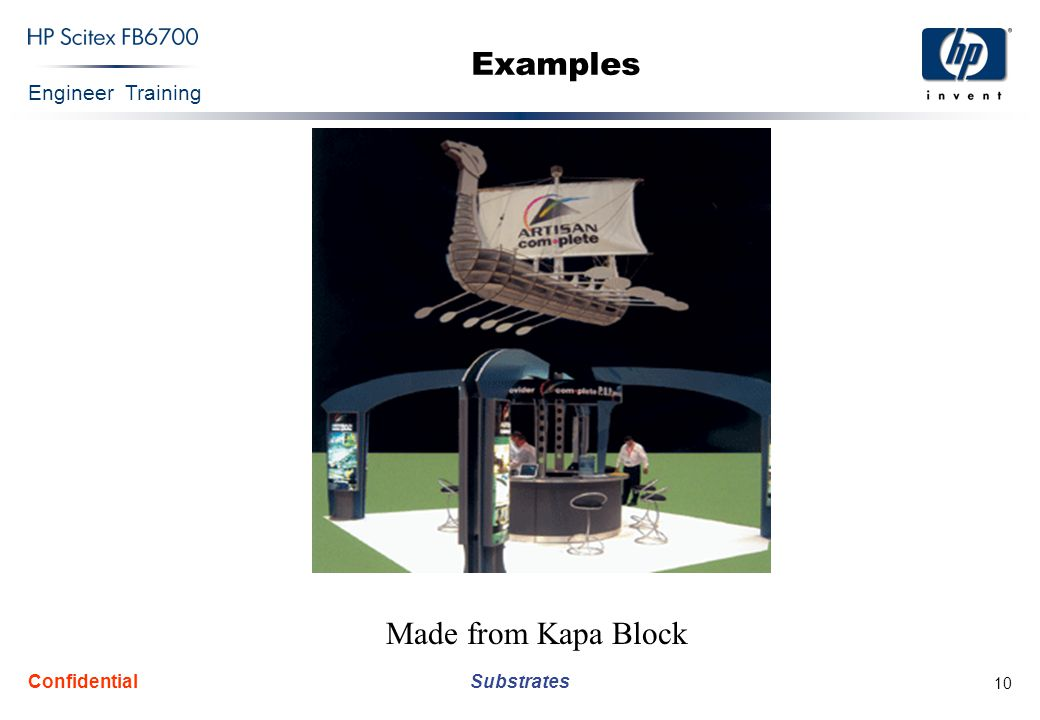 Engineer Training Substrates Confidential 10 Made from Kapa Block Examples