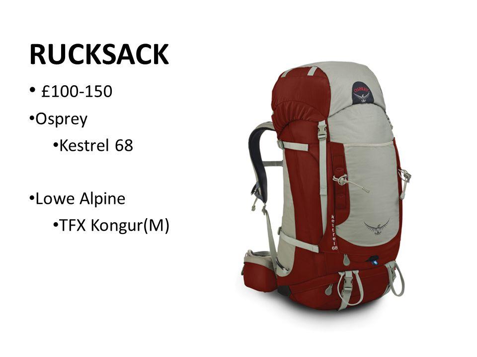 RUCKSACK £100-150 Osprey Kestrel 68 Lowe Alpine TFX Kongur(M)