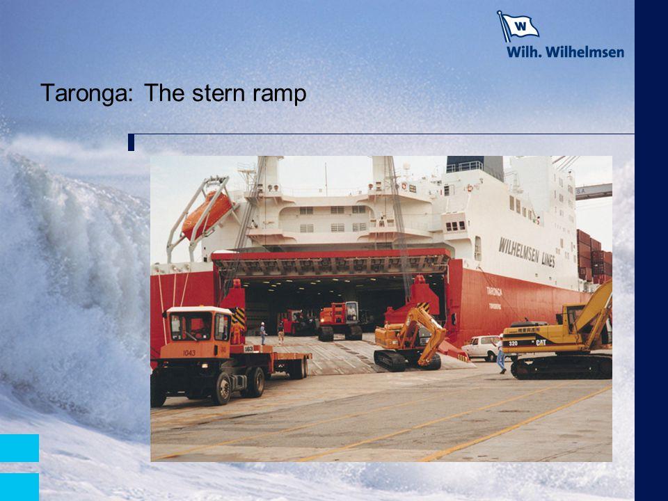 Taronga: The stern ramp