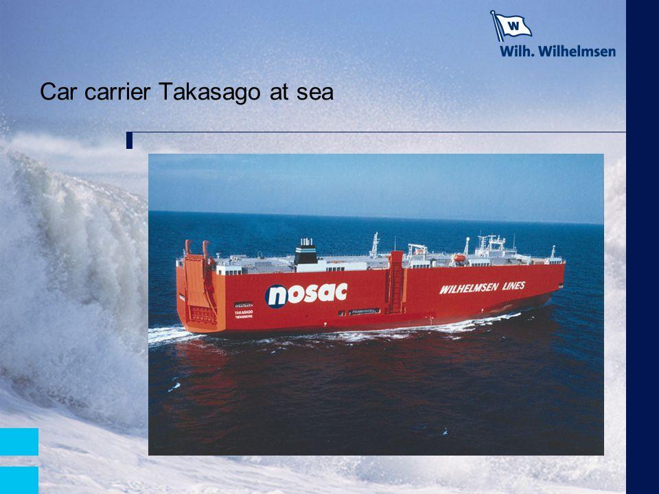 Car carrier Takasago at sea