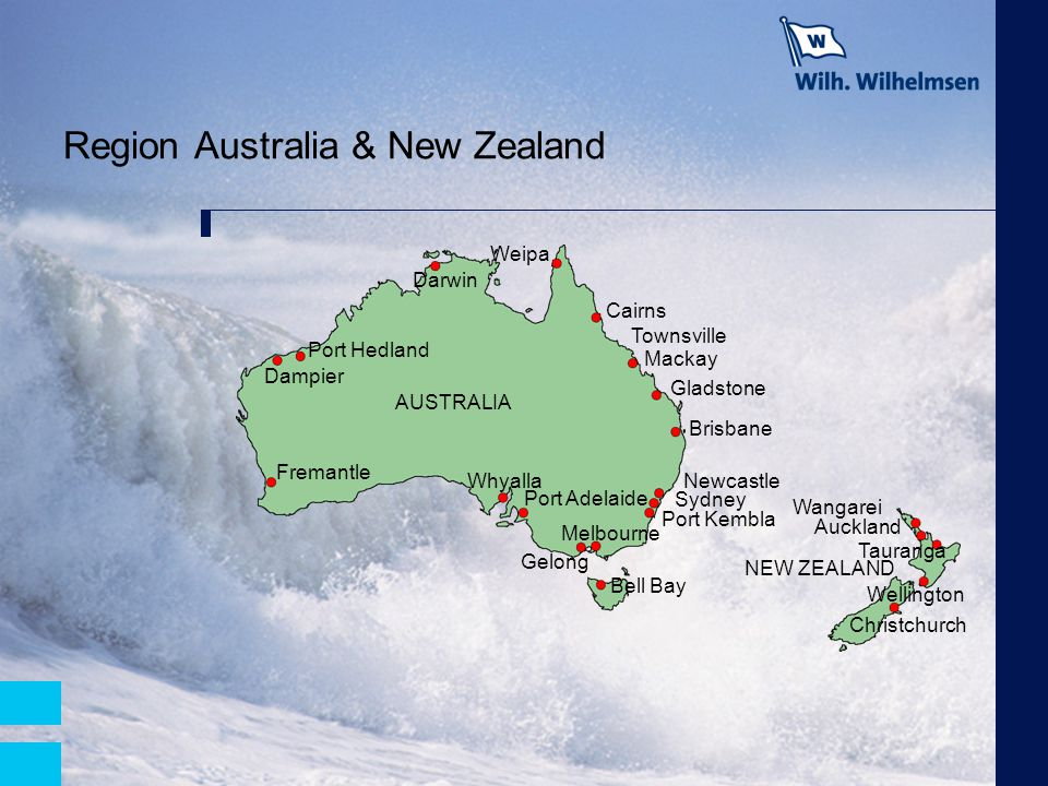 Region Australia & New Zealand Brisbane NEW ZEALAND AUSTRALIA Weipa Gladstone Wellington Christchurch Auckland Bell Bay Port Kembla Sydney Newcastle C