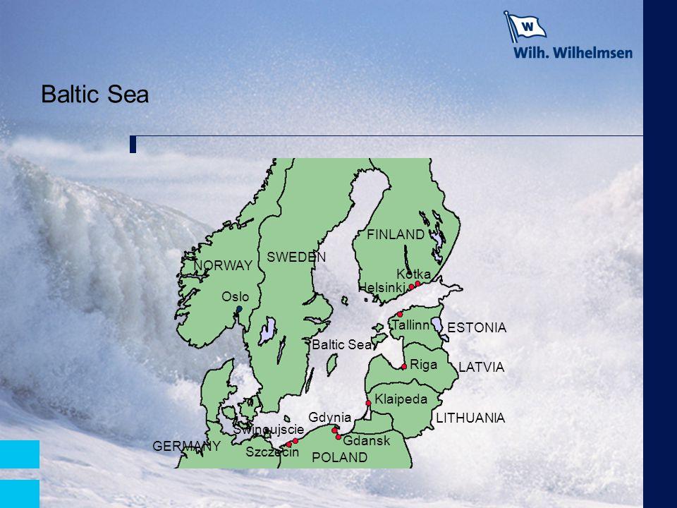 Baltic Sea NORWAY Oslo Helsinki SWEDEN FINLAND Kotka ESTONIA LATVIA LITHUANIA Tallinn Riga Klaipeda Gdynia Gdansk Swinoujscie Szczecin POLAND GERMANY