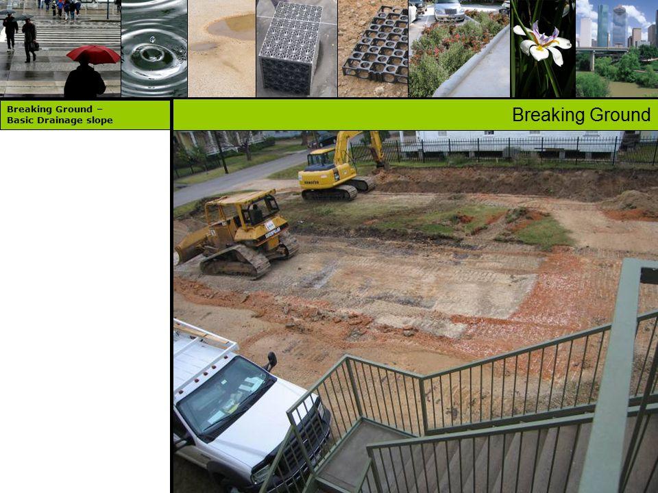 Breaking Ground Breaking Ground – Basic Drainage slope