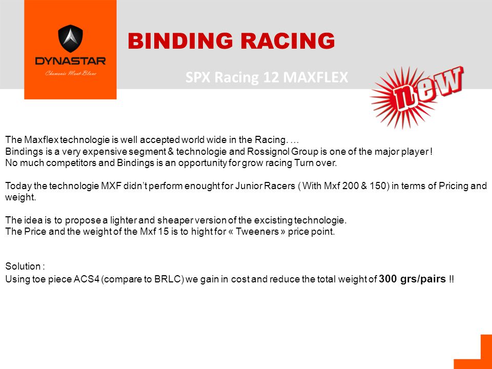 The Maxflex technologie is well accepted world wide in the Racing.