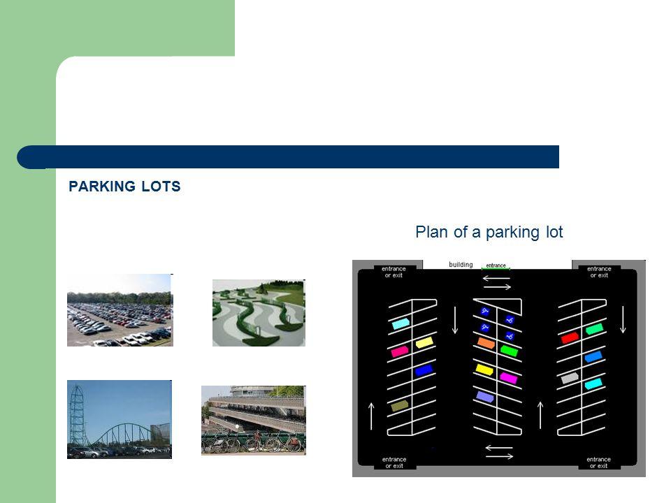 PARKING LOTS Plan of a parking lot
