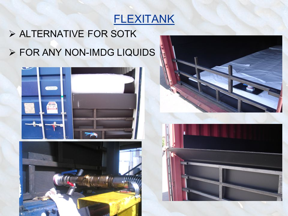 FLEXITANK  ALTERNATIVE FOR SOTK  FOR ANY NON-IMDG LIQUIDS