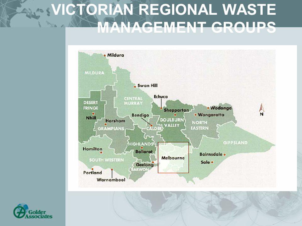 VICTORIAN REGIONAL WASTE MANAGEMENT GROUPS