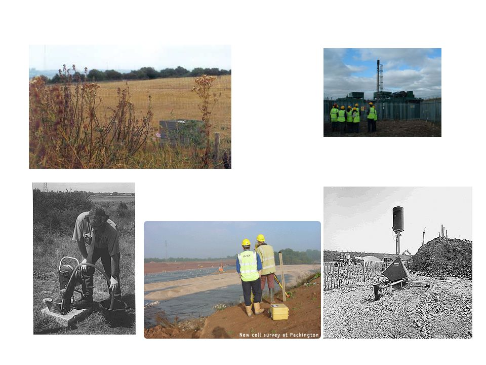 Site Management & Monitoring monitoring groundwater for chloride & ammonia in plumes monitoring unsaturated zone for gases venting of methane gas by boreholes porous pipes to transfer leachate into sumps for collection & removal