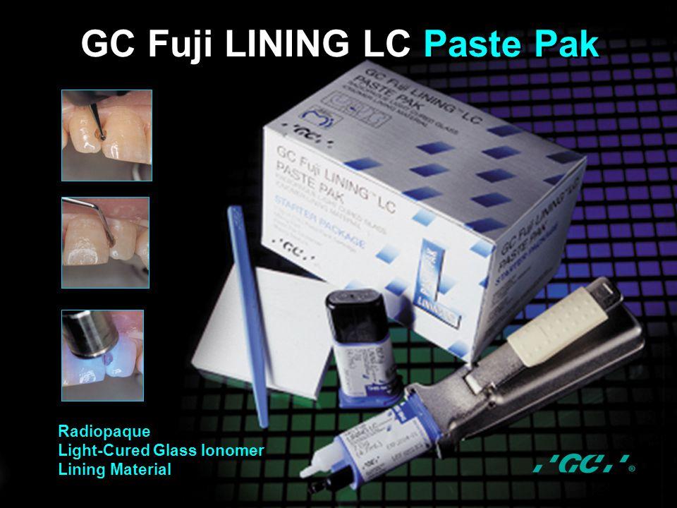 GC Fuji LINING LC Paste Pak Radiopaque Light-Cured Glass Ionomer Lining Material