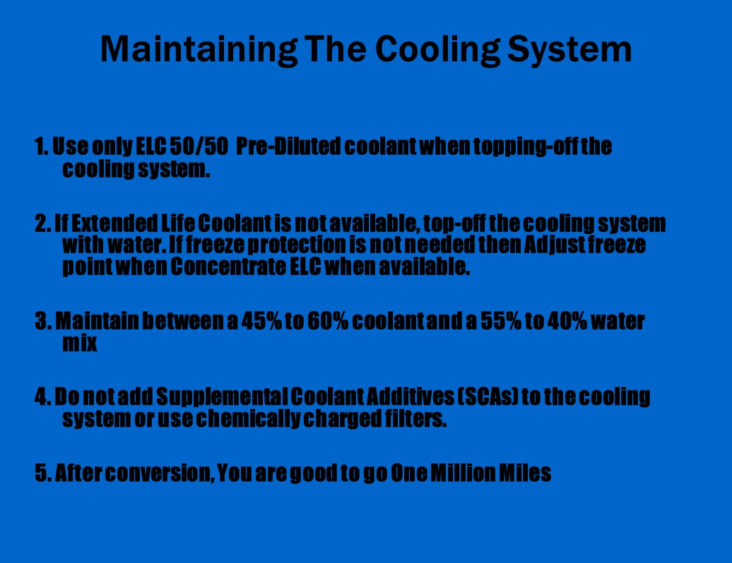 Maintaining The Cooling System 1.