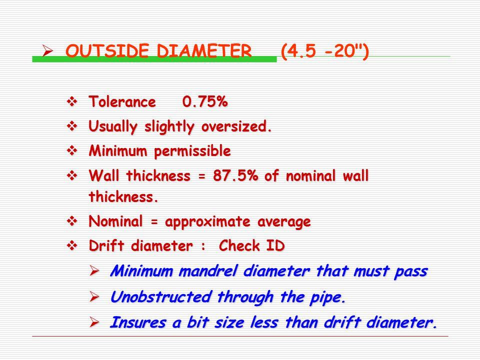  OUTSIDE DIAMETER(4.5 -20