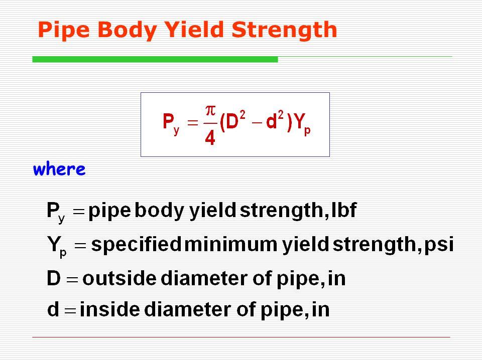 Pipe Body Yield Strength where