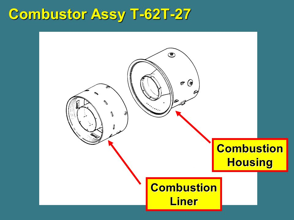 Combustor Assy T-62T-27 CombustionHousing CombustionLiner