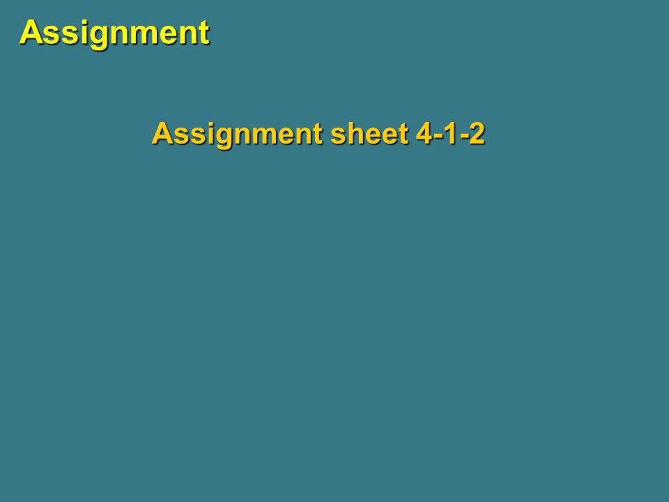 Assignment Assignment sheet 4-1-2