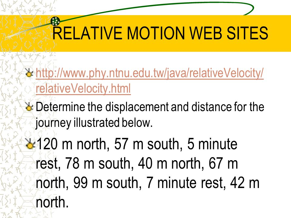 Graphing Motion Position (distance) vs.
