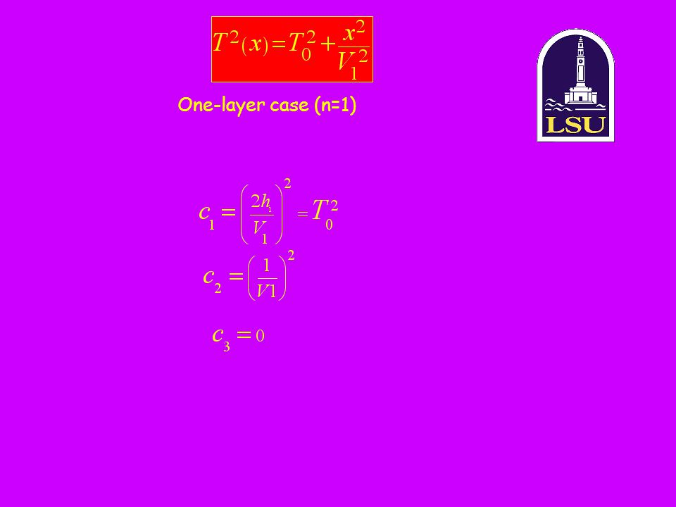 One-layer case (n=1)