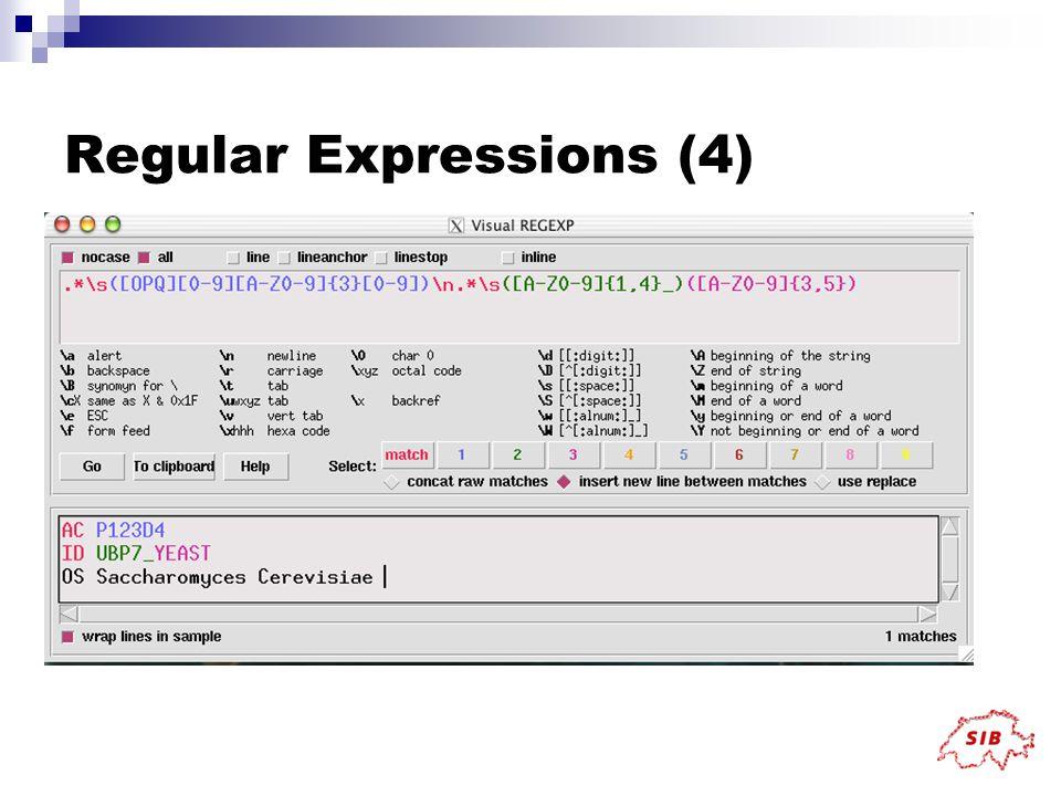 Regular Expressions (4)