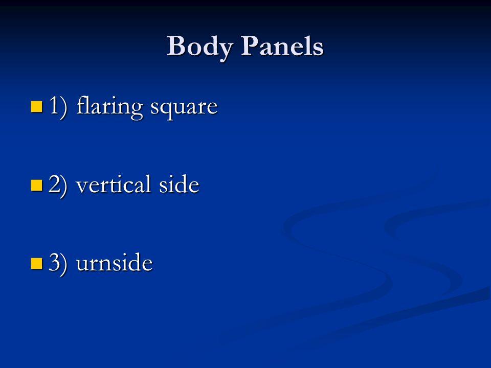 Body Panels 1) flaring square 1) flaring square 2) vertical side 2) vertical side 3) urnside 3) urnside