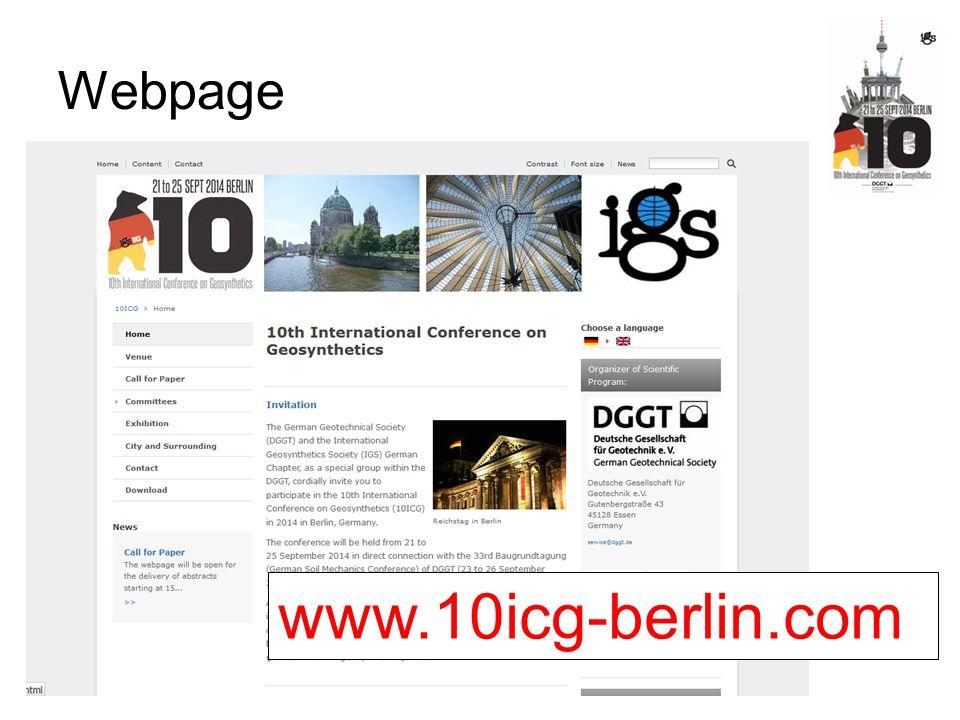 Webpage www.10icg-berlin.com