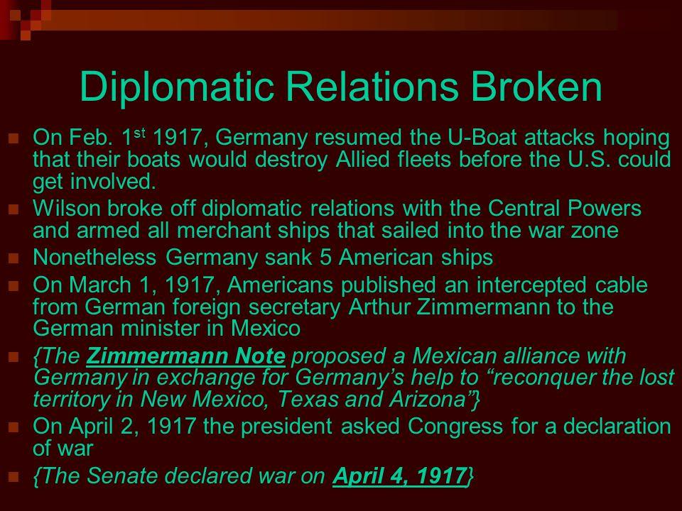 Diplomatic Relations Broken On Feb.