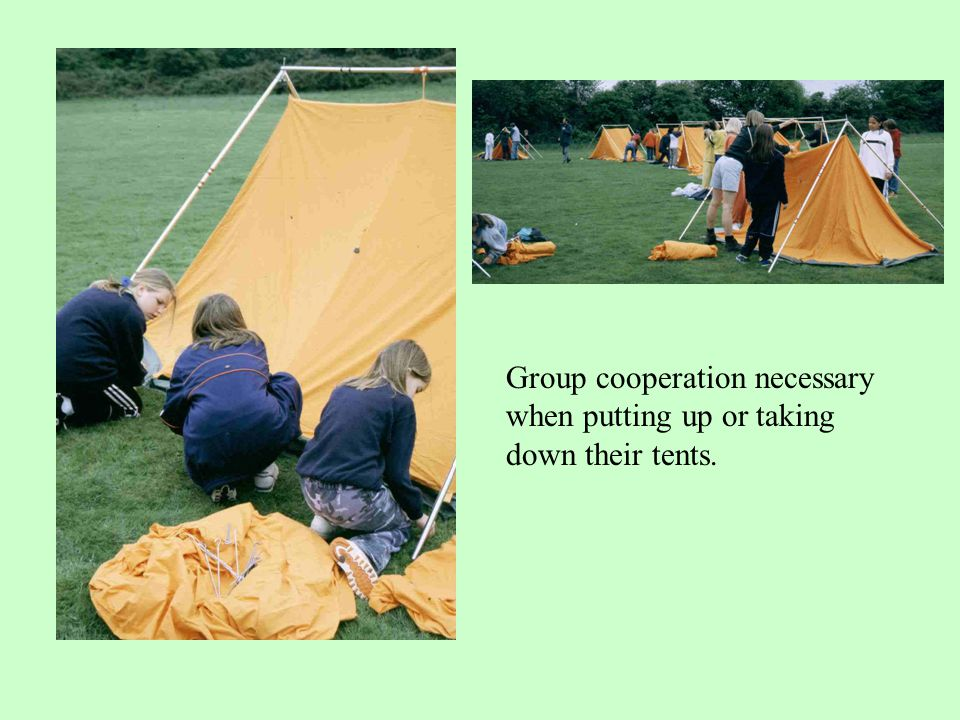 2 or 3 boys or girls in a tent