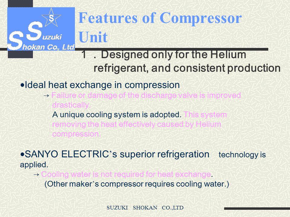 SUZUKI SHOKAN CO.,LTD Features of Compressor Unit