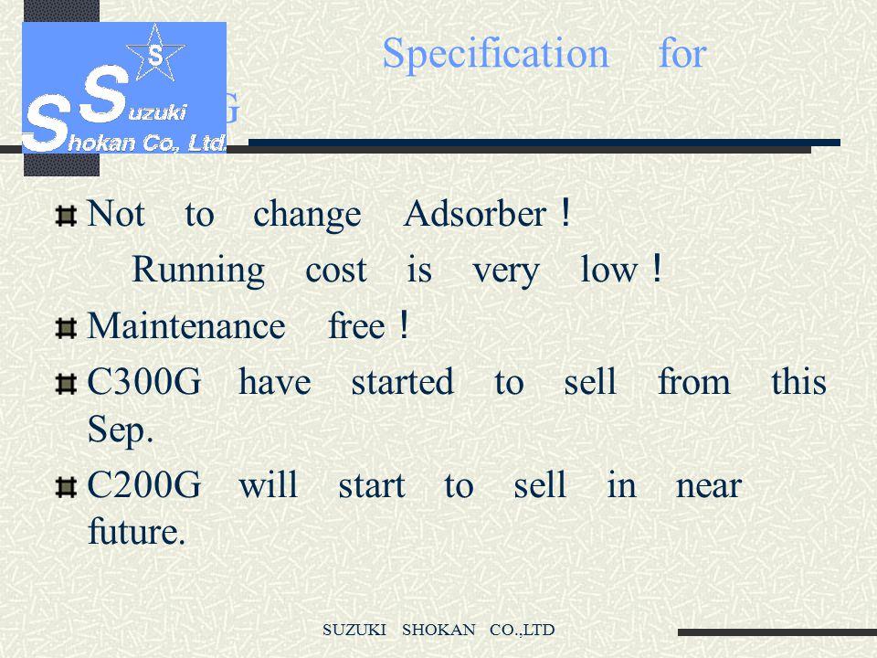 SUZUKI SHOKAN CO.,LTD C100G Compressor unit
