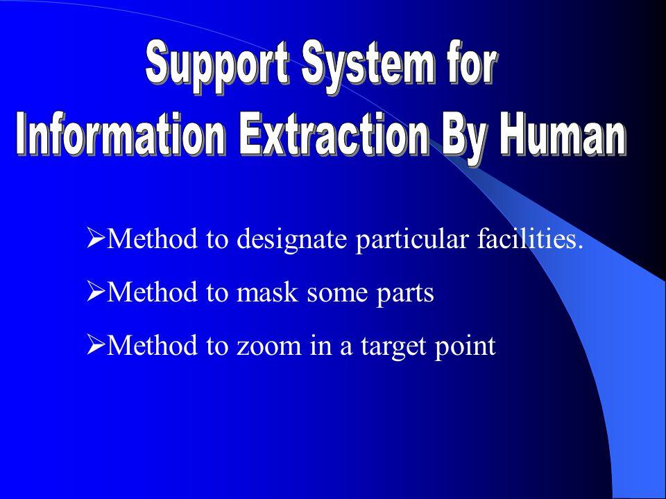  M ethod to designate particular facilities.