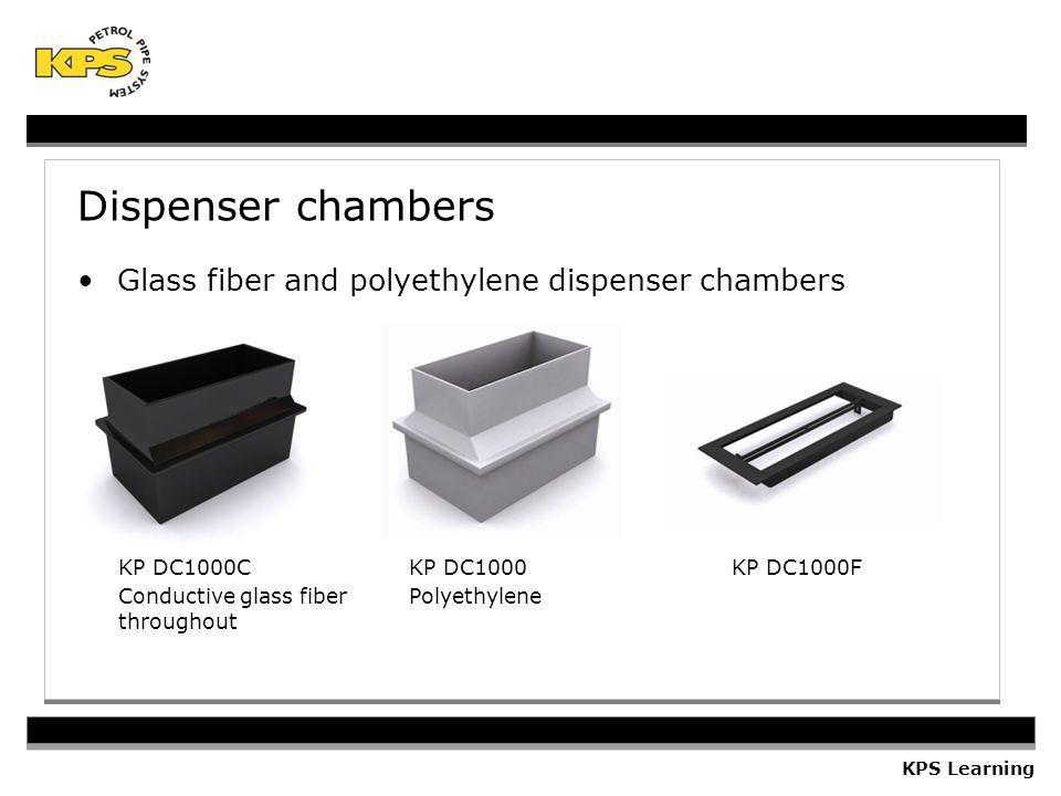 Dispenser chambers Glass fiber and polyethylene dispenser chambers KP DC1000C Conductive glass fiber throughout KP DC1000 Polyethylene KP DC1000F