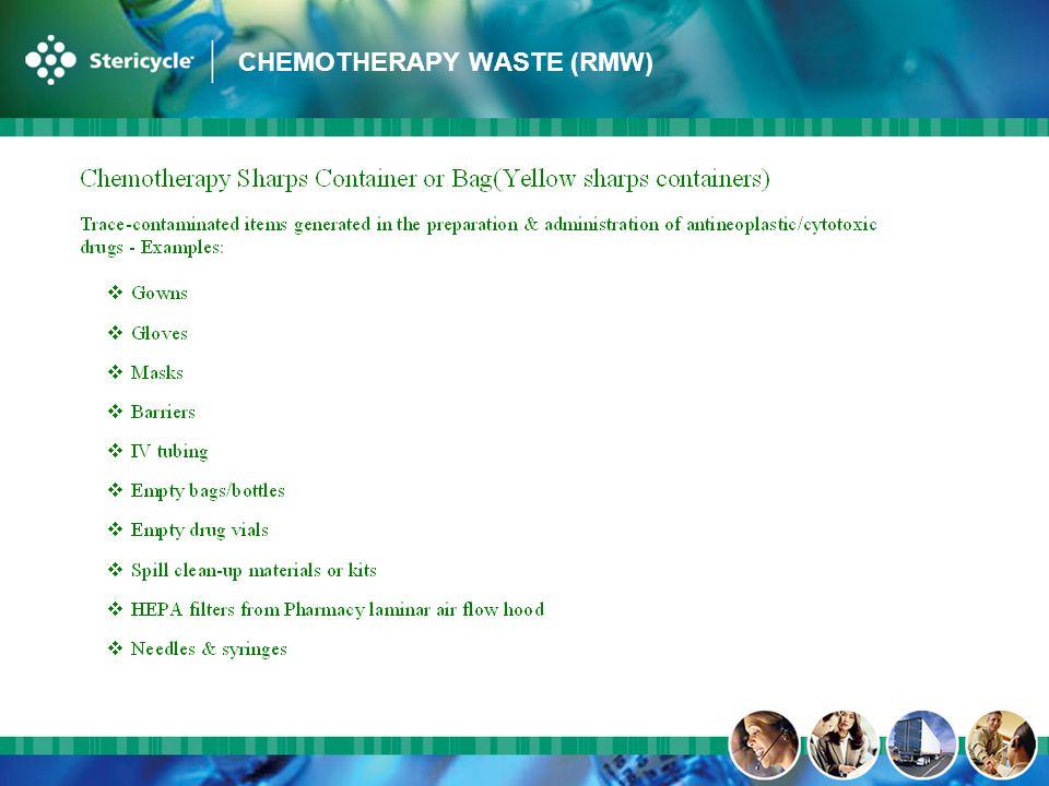 CHEMOTHERAPY WASTE (RMW)
