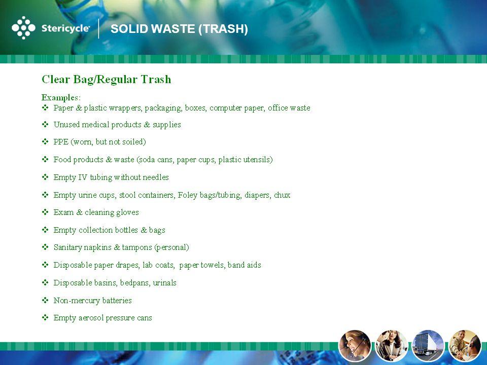 SOLID WASTE (TRASH)