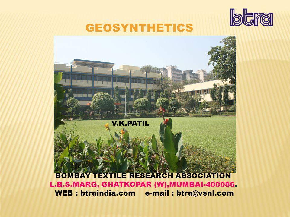 BOMBAY TEXTILE RESEARCH ASSOCIATION L.B.S.MARG, GHATKOPAR (W),MUMBAI-400086.