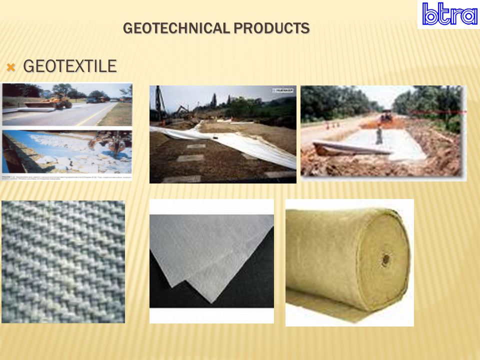 GEOTECHNICAL PRODUCTS  GEOTEXTILE