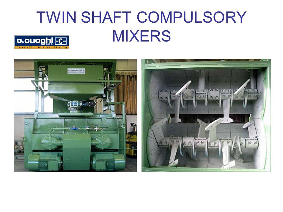 TWIN SHAFT COMPULSORY MIXERS