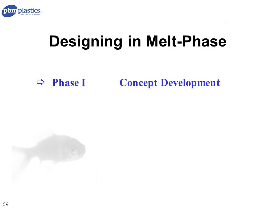 59 Designing in Melt-Phase  Phase IConcept Development