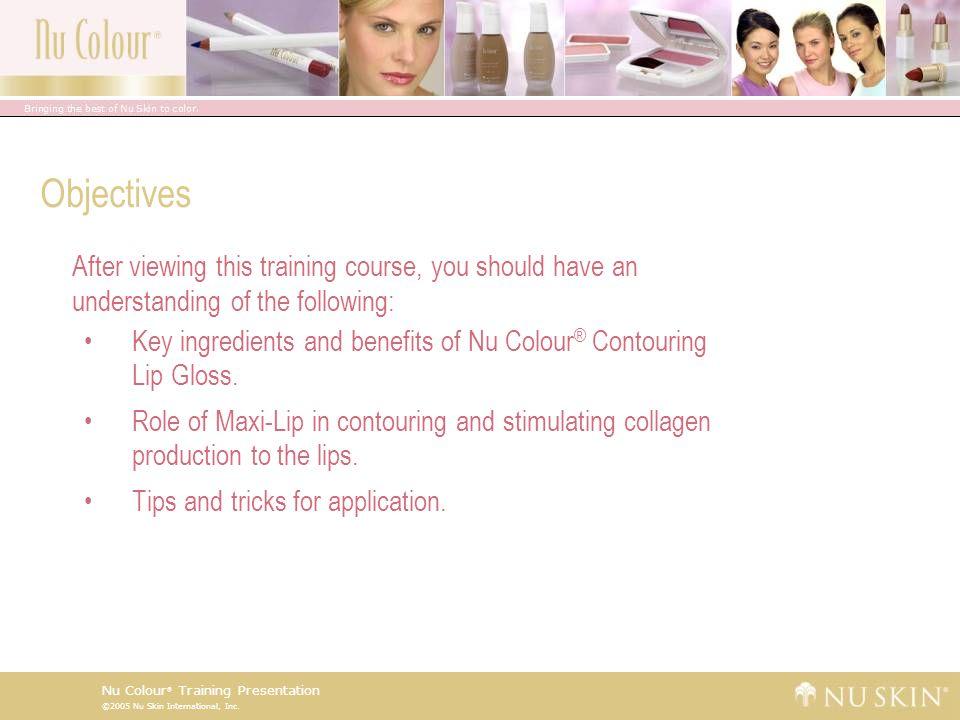 ©2005 Nu Skin International, Inc. Nu Colour ® Training Presentation Previous Curriculum Review