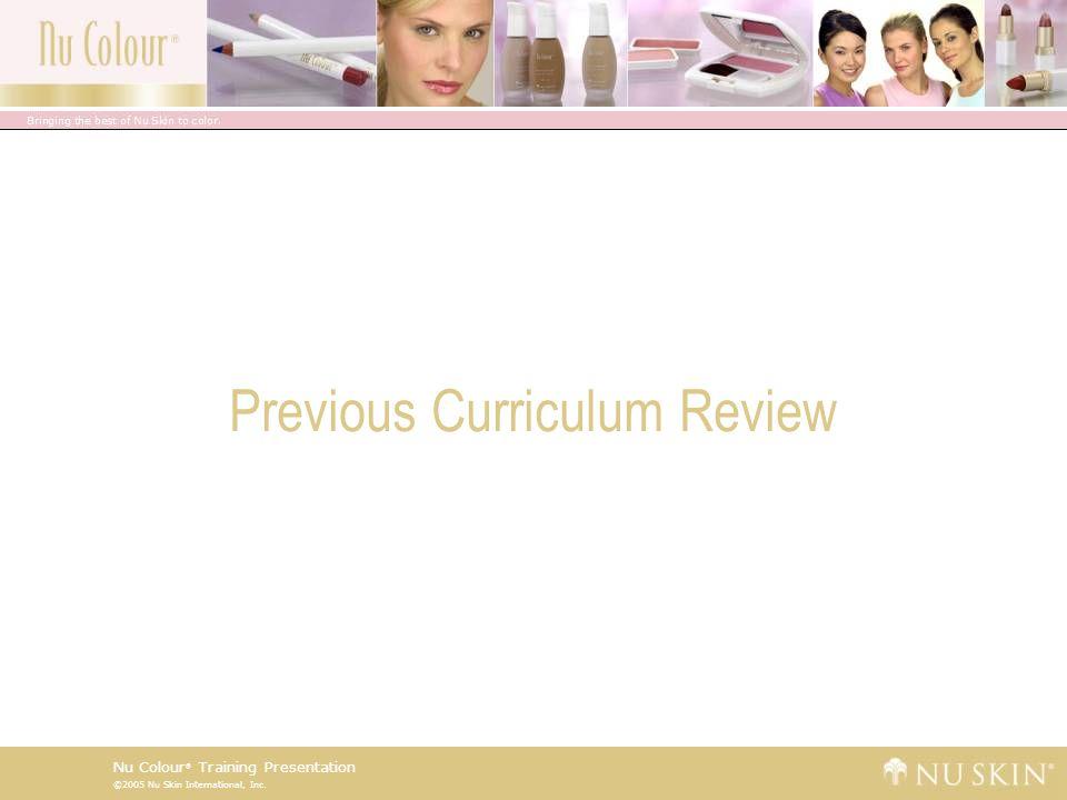 ©2005 Nu Skin International, Inc. Nu Colour ® Training Presentation Key Benefits Supported