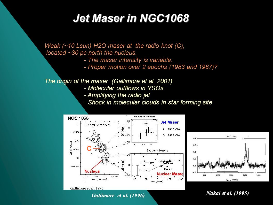 Origin of the maser in M51 VLA maps: Bradley, Kaiser, Baan (2004) The red-shifted masers are likely to be related to AGN-activity.