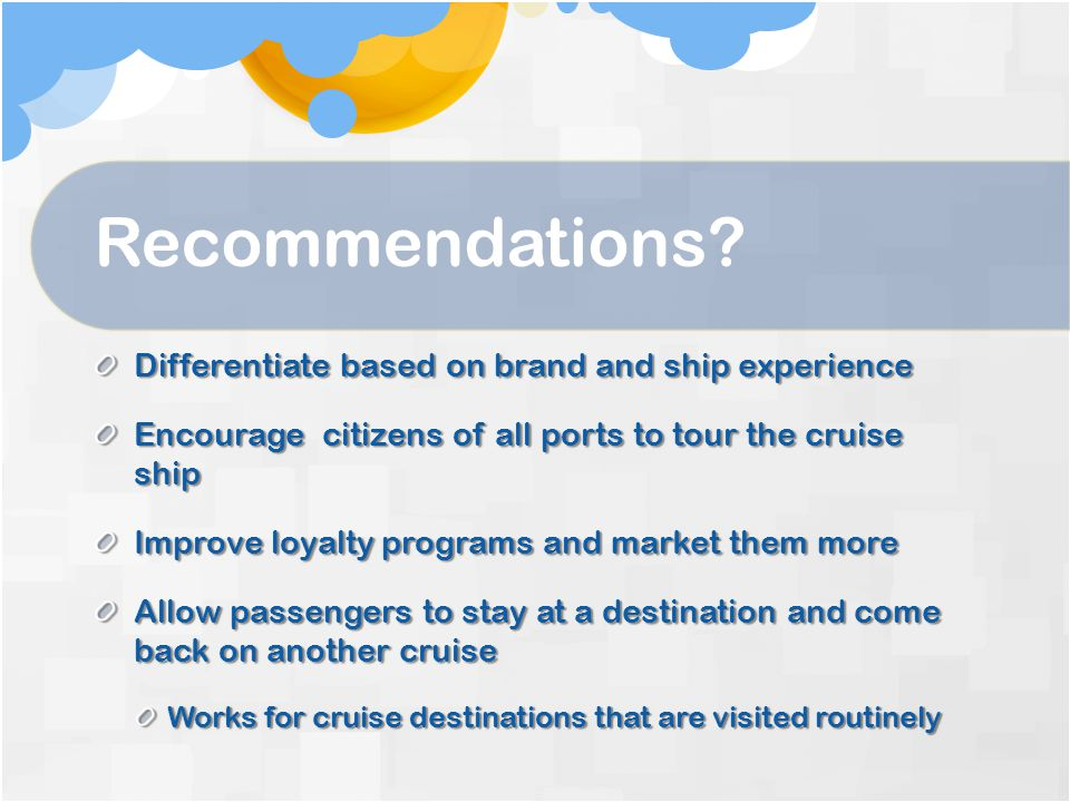 Recommendations.